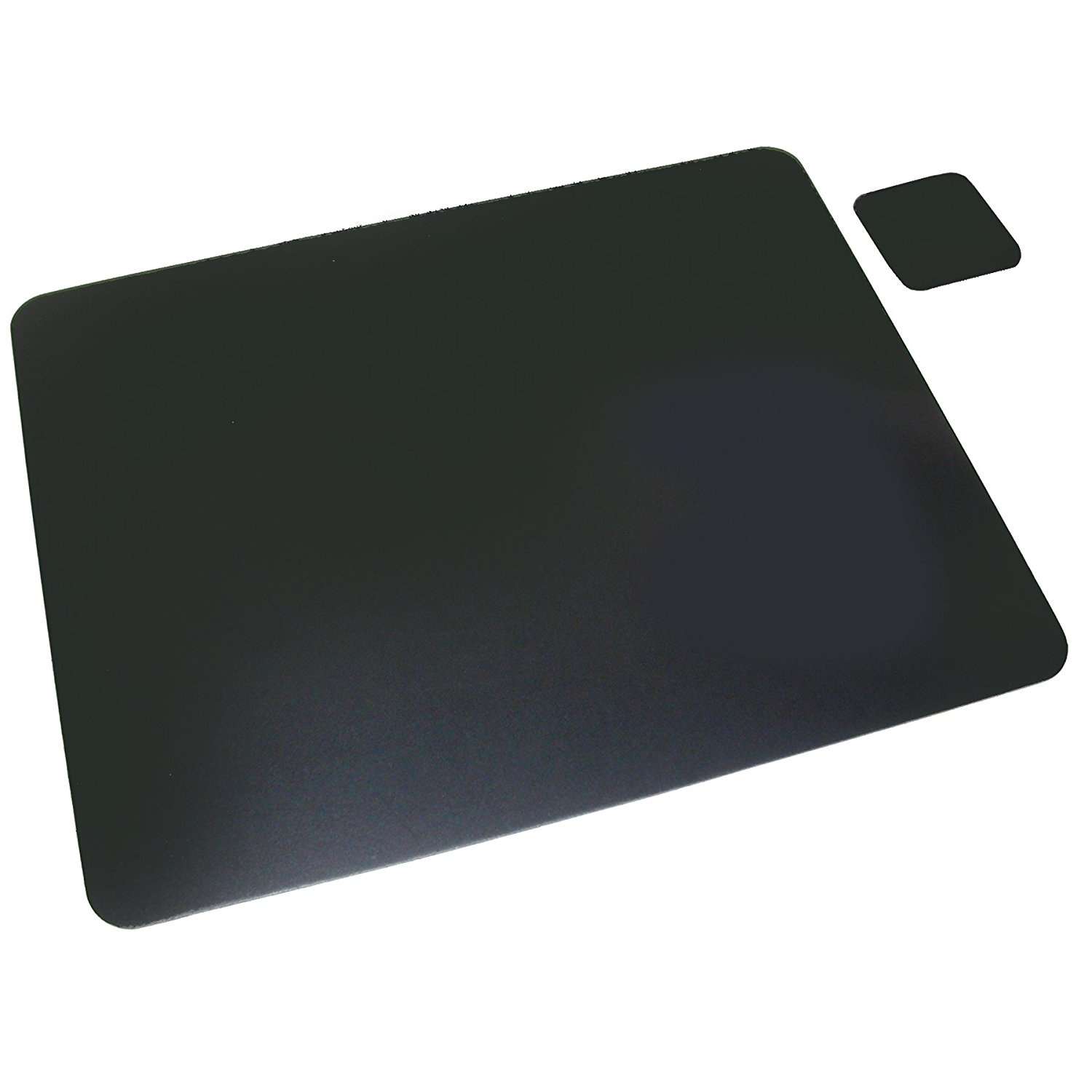 Artistic 50cm X 90cm Bonded Leather Desk Pad W Coaster Black 2036le By For Stationery In Fiji