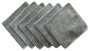 Sinland All-purpose Microfiber Cleaning Cloths Wiping Dusting Rags 12Inchx12Inch Dark Grey 6 Pack