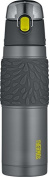 Thermos 530ml Vacuum Insulated Stainless Steel Hydration Bottle, Charcoal with Lime Accents