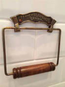 Vintage Antique style British Paper Toilet Roll Holder Bronze effect finish solid Brass wall mounted Loo Paper dispenser