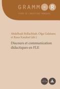 Discours Et Communication Didactiques En Fle  [FRE]