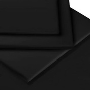 [hachette] 41cm EXTRA DEEP FITTED SHEET SUPER KING SIZE BLACK 100% EGYPTIAN COTTON 200 THREAD COUNT