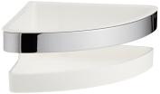 Keuco 12757010000 Shower Basket for Corner Synthetic Insert - Chrome/ White