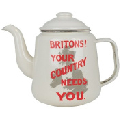 Britons! Your Country Need You Enamel Teapot