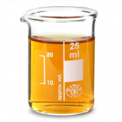 Glass Measuring Beaker 25ml | Low Form Beaker, Measuring Cup, Borosiliate Beaker