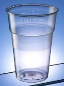 Disposable Plastic Pint Glasses (CE pint-to-rim) pack of 100