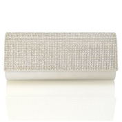 NEW WOMENS DIAMANTE PARTY EVENING BRIDAL PROM SPARKLY WEDDING LADIES CLUTCH BAG