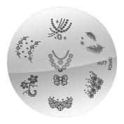 Konad Stamping Nail Art - Image Plate M 77 by Star Naildesign & Cosmetics