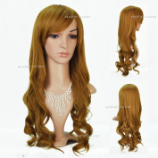 Beauties Factory Extra Long Wave / Curly Cosplay Blonde Full Hair Wig (Adjustable Head Size) x 1