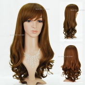 Beauties Factory Long Wave / Curly Victoria Blonde Brown Full Hair Wig (Adjustable Head Size) x 1