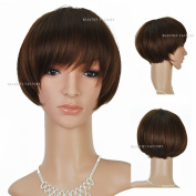 Beauties Factory Natural Style Synthetic Short Straight Full Hair Wig (Adjustable Head Size) x 1