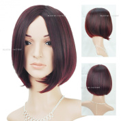 Beauties Factory Synthetic Medium Straight Natural Casual Full Hair Wig (Adjustable Head Size) x 1