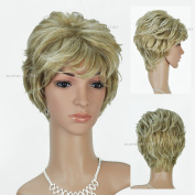 Beauties Factory Synthetic Short Wave / Curly Natural Full Hair Wig (Adjustable Head Size) x 1