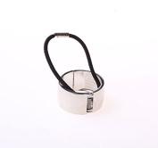 BHD New Women Hair Cuff Wrap Ponytail Metal Holder Ring Tie Elastic Hair Band Rope