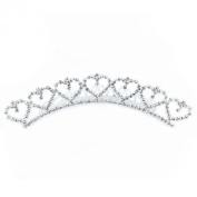 ClearBridal Tiara For Wedding Crystal Rhinestone Pearl Hair Comb