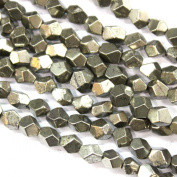 Faceted Natural Genuine Pyrite Nuggets Gemstone Beads for Jewerly Bracelet Making