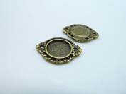 20pcs 16x20mm-10mm Antique Bronze Cameo Cabochon Base Setting Pendants Charm Pendant C3127