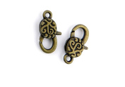 60 Pieces Jewellery Making Charms Pendant Ancient Bronze Colour Retro Findings Supplies GAQBBF0 Lucky Lobster Clasp