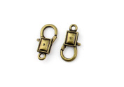 Price per 5 Pieces Jewellery Making Charms IMHY0 Square Lobster Clasp Ancient Bronze Findings Craft Supplies Bulk Lots