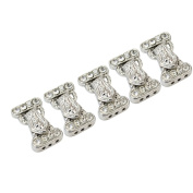 5Pcs 14x24mm Crystal Rhinestone Metal Magnetic Clasps For Necklace Bracelet