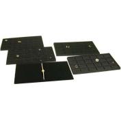 4 Black Jewellery Bracelet Trays Insert Display Case