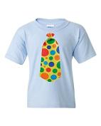 Funny Clown Tie Short Sleeve Tee T Shirt, 100% Cotton, Organic Ink