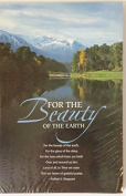"""For the Beauty of the Earth"" Hymn Church Bulletin with Perforated Tear-Off Panel - Legal Size 20cm - 1.3cm x 36cm"