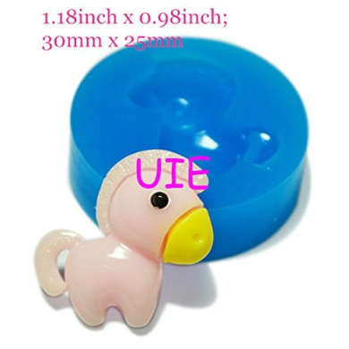 081LBD Cute Horse Silicone Push Mould Polymer Clay Charms Fondant Gumpaste Dollhouse Mini Resin Mould (Fimo Wax Epoxy Gum)