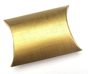 10 Small Gold Silk Gift Boxes / Wedding Boxes / Favour Boxes - 70mm x 70mm x 25mm