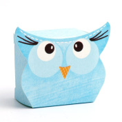10 Small Blue Owl Gift Boxes / Baby Shower Boxes / Favour Boxes - 35mm x 35mm x 25mm