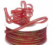 "3mm-1/8"" Organza Pull Bow Ribbon Red 50yd"