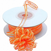 "3mm-1/8"" Organza Pull Bow Ribbon Orange 50yd"