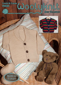 0028 - Louis & Lucas - Knitting Pattern By Woolyknit | Fingering (4ply) Knit Pattern | Baby's |Cardigans
