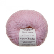 Blush - Woolyknit 4ply Classics| 100% Merino Fingering Weight Hand Knitting Wool Yarn, Machine Washable, 50g Balls
