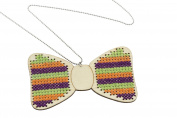 Diy Counted Cross Stitch Bow Tie Pendant Kit