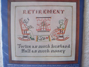 Retirement Sampler Stamped Cross Stitch Kit