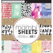 Me & My Big Ideas PADX274 Mambi Paper Pad 12X12 48/Pkg-Paint Palette