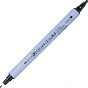Kuretake Fude Brush Pen Twin ZIG Clean Colour II, No.10, Black