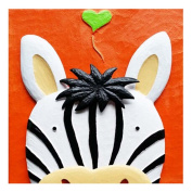 [Funny Zebra] 3D Cartoon Paint-By-Number Kits Kids DIY Painting Crafts,Over 5Y