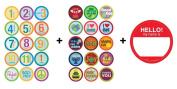 Belly Banter GENDER NEUTRAL + HOLIDAY Growth & Milestone Sticker sets = 31 stickers!