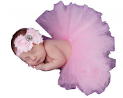Lovinglove Baby Girls Cute Bunny Skirt Feather Lace Suit and Elastic Headband Gift Set
