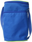 J.L. Childress 6 Bottle Cooler Tote Bag, Blue/Green
