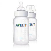 2 Avent 330ml Polypropylene (Pp) Bottles New, BPA Free
