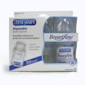 3 X 120ml Breastflow Disposable Bottles NEW BPA Free