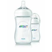 2 X 270ml Avent Natural Plastic (Pp) Bottles, New, BPA Free