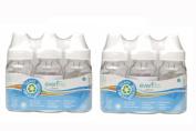 6 New Evenflo Glass Baby Bottles 120ml, BPA Free