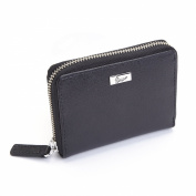 Royce Leather RFID Blocking Italian Saffiano Mini Fan Wallet
