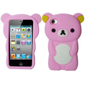 Light Baby Pink Bear Silicon Soft Rubber Skin Case Cover For Apple iPod Touch iTouch 4 4G