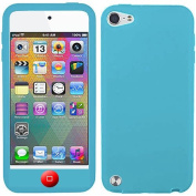 Baby Light Blue Red Button Silicon Soft Rubber Skin Case Cover For Apple iPod Touch iTouch 5