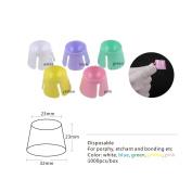 Easyinsmile Plastic dappen dish 100 PCS/BOX multi-purpose for dental,nails,acrylic,tattoo